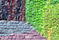 Mosaic wall with bright colors Royalty Free Stock Photos