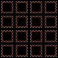 Mosaic wallpaper frames Stock Images