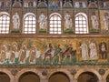 Mosaic walls with three Magi of Catherdal Royalty Free Stock Photo