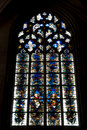 The mosaic window in cathedral of Saint-Jean, Lyon Royalty Free Stock Photo