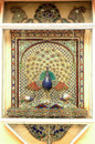 Mosaic work of peacock  Udaipur Palace Royalty Free Stock Photo