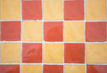 Mosaic yellow and orange texture background Royalty Free Stock Photo