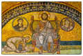 The mosaics that adorn the hagia sofia mosque are indeed a work of art Royalty Free Stock Images