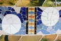 Mosaics decoration at Park Guell Royalty Free Stock Photos