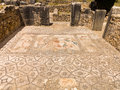 Mosaics at volubilis morocco is a partly excavated roman city in situated near meknes between fes and rabat built in a fertile Stock Photos