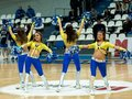 Moscow april cheerleaders groupe vip dance on a game dynamo msk vs dynamo nsk of women rba national tournament on april in moscow Stock Photos