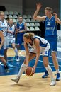 Moscow april tatiana vidmer in action on a game dynamo msk vs dynamo nsk of women rba national tournament on april in moscow Stock Photos