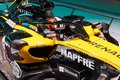 MOSCOW, AUG.31, 2018: View on Formula One race car of Renault team on exhibition stand on MMAC 2018. Automobile show of luxury and Royalty Free Stock Photo