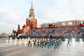 Moscow august presidential orchestra russian federation honor guard presidential regiment military music festival spasskaya tower Stock Images