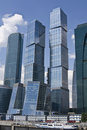 Moscow, business center Moscow-city Stock Photos
