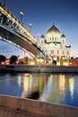 Moscow. The Cathedral of Christ the Savior. Royalty Free Stock Photo