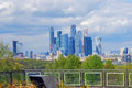 Moscow City Business Center. Blue sky background. Royalty Free Stock Photo