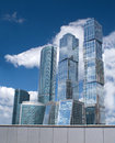 Moscow City Business centre buildings in Moscow Stock Image