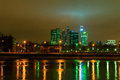 Moscow city international business center scyscapers cityscape at night Royalty Free Stock Image