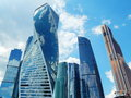 Moscow-City - an international business centre in Moscow. Royalty Free Stock Photo