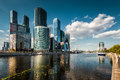 Moscow city moscow international business center august skyscrapers of over moskva river is a modern commercial Stock Images