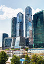Moscow city moscow international business center russia Royalty Free Stock Photo