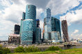 Moscow city moscow international business center russia on july is a modern commercial district in central Royalty Free Stock Images