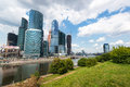 Moscow city moscow international business center russia on july is a modern commercial district in central Stock Images