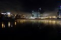 Moscow city at night. Royalty Free Stock Photo