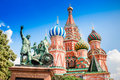 Moscow colorful picture of st basil s cathedral in russia Royalty Free Stock Photo