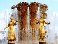 Moscow, Fountain Friendship of Nations, fragment Royalty Free Stock Images