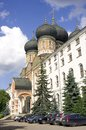 Moscow izmailovsky island cathedral of the holy virgin porch Royalty Free Stock Photos