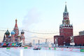 Moscow january gum skating rink red square open december to march contains people january moscow russia Royalty Free Stock Photo
