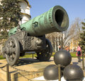 Moscow king cannon april tsar inside kremlin fortress has been built in Royalty Free Stock Photos