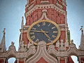 Moscow Kremlin chimes closeup Royalty Free Stock Photo