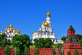 Moscow kremlin churches in russia Royalty Free Stock Photos