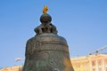 Moscow kremlin color photo the king bell tsar bell of unesco world heritage site Royalty Free Stock Image