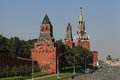 Moscow kremlin landscape Royalty Free Stock Photo