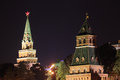 Moscow Kremlin at night. Royalty Free Stock Photo