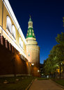 Moscow kremlin by night russia Royalty Free Stock Photography
