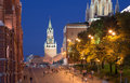 Moscow kremlin by night russia Stock Photography