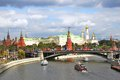 The Moscow Kremlin panorama. Royalty Free Stock Photo