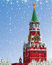 Moscow kremlin russian winter iillustration a graphic illustration of the vector Royalty Free Stock Photos