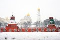 Moscow Kremlin. Russian winter. Royalty Free Stock Photo