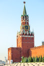 Moscow kremlin s spassky tower sights of Royalty Free Stock Images