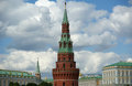 Moscow kremlin shot from the big stone bridge russia unesco world heritage site Stock Photos