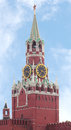 Moscow Kremlin. Spasskaya tower Royalty Free Stock Photos