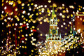 Moscow Kremlin Spassky Tower with  Christmas lights Royalty Free Stock Photo
