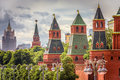 Moscow Kremlin in summer, Russia Royalty Free Stock Photo