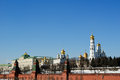 Moscow kremlin on a sunny winter day russia Stock Image