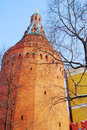 Moscow Kremlin tower and wall. Royalty Free Stock Images