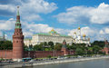 Moscow kremlin view of russia Royalty Free Stock Images