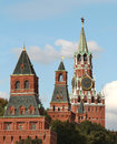 Moscow kremlin view from the tower and the clock beautiful Stock Photo