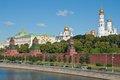 Moscow kremlin view of the and the waterfront russia Stock Image
