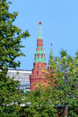 Moscow kremlin water platoon sviblova a tower — a southwest angular tower of the Royalty Free Stock Photos